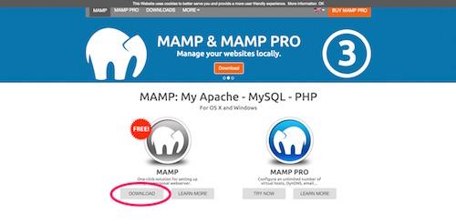 MAMPのサイト