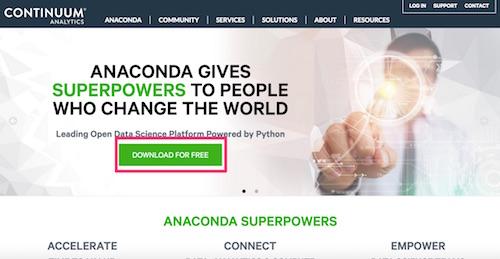 Anacondaのサイト