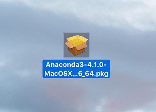 anacondaインストールパッケージ