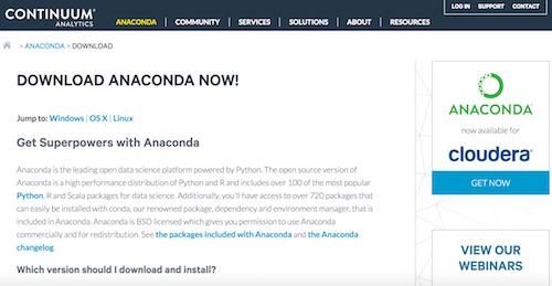 anacondaダウンロードサイト